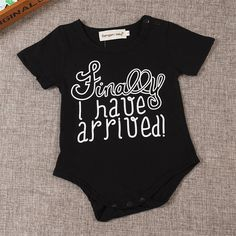 P.S. I Love You More Boutique | Finally I Have Arrived Onesie -- Spring Summer Fall Winter Fashion. www.psiloveyoumoreboutique.com