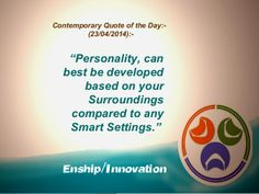 Contemporary Quote of the Day - (23/04/2014):- by Enship/Innovation via slideshare