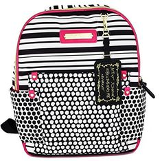 Betsey Johnson Polkadot Multipocket Ziparound Backpack *** Want to know more, click on the image.