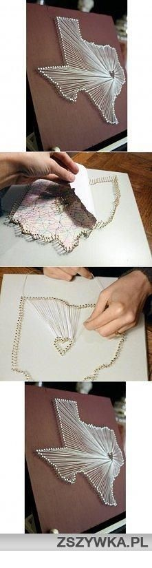 Pin and String Wall Art. Good idea for cities you have called home...FYI, the link if definitely not for the project.