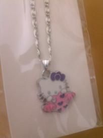 Hello Kitty Holding a Heart with WingsKids Girls Necklace
