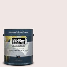 BEHR Premium Plus Ultra 1-gal. #ppl-43 Primrose Bouquet Satin Enamel Interior Paint