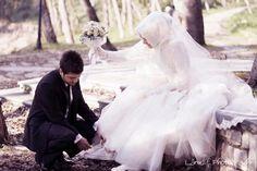 wedding hijab dress