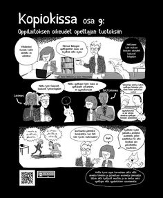 Kopiokissa osa 9. Oppilaitoksen oikeudet opettajan tuotoksiin. Teaching, Education, Comics, Memes, Meme, Cartoons, Onderwijs, Learning, Comic