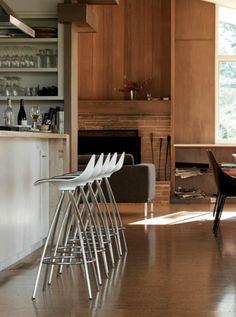 Modern Living Room with Onda Stools