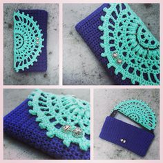 How to Crochet Mobile Cell Phone Pouch for iPhone Samsung - Crochet Ideas Crochet Wallet, Crochet Pouch, Crochet Gifts, Diy Crochet, Crochet Hooks, Mobiles, Crochet Designs, Crochet Patterns, Crochet Pencil Case
