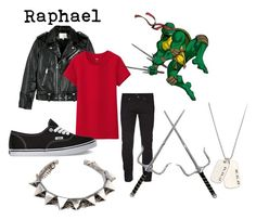 """Raphael TMNT"" by chuckygal-mp ❤ liked on Polyvore featuring IRO, Uniqlo, Vans, Emanuele Bicocchi, Anna Bee and teenagemutantninjaturtles"