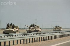 Military Tanks in the Gulf War