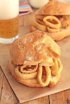 Cómo hacer un Bocadillo de calamares en casa, receta paso a paso.