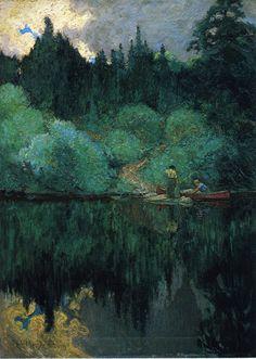 "the-paintrist: "" walterbolinsky: "" J E H MacDonald - Claring after rain (1910) "" James Edward Hervey MacDonald (May 12, 1873 – November 26, 1932), known as J. E. H. MacDonald, was a Canadian artist..."