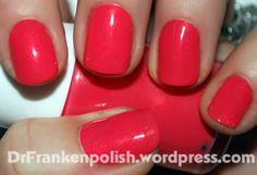 Coral Red Nail Polish