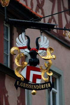 Gold Street Sign    Rothenburg, Germany