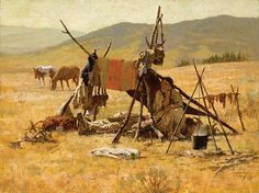 Howard Terpning - One Man's Castle - This is one of more than works of art offered by ArtUSA, The World's Source for Collectible Art. Toll-free or Native American Paintings, Native American Pictures, Native American Artists, Native American Women, American Indian Art, Native American History, Indian Paintings, American Indians, Western Artists