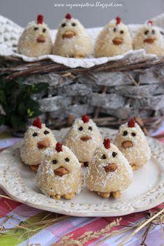 Uwielbiam takie kreatywne słodkości! Jak tylko zobaczyłam kurki na tej stronie od razu wiedziałam, że muszę je zrobić! Tym bardziej pr... Krispie Treats, Rice Krispies, Pudding, Cupcakes, Cookies, Breakfast, Sweet, Food, Diy
