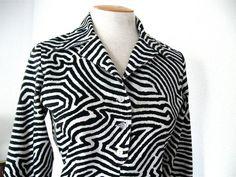 Vintage Mod 70s Groovy Black and White Zebra by ErmaJewelsVintage, $30.00