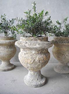 Set of Six Garden Urns 23.5Hx17D-Chateau Domingue