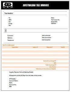 22 Austrialian Tax Invoice Templates Ideas Invoicing Tax Templates