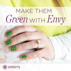 Make them GREEN with ENVY!  Shop our St Patrick's Day designs for a fun, long-lasting, no stress manicure!