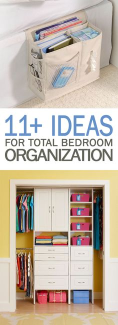 Ideas for Total Bedroom Organization - 101 Days of Organization, Bedroom Organization, Organizing Hacks, Bedroom Organization Diy, Home Organization Hacks, Bedroom Storage, Diy Storage, Diy Projects For Bedroom, Bedroom Hacks, Diy Home Decor Bedroom, Bedroom Furniture