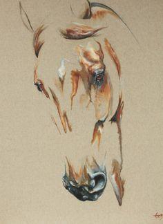 Alezan - Laetitia PLINGUET Oil on canvas www.articia.fr