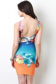 Tropical Floral Bodycon Dress #urbanog