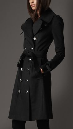 Burberry - LONG WOOL CASHMERE TRENCH COAT