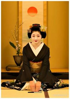 New years greetings from Maiko Satsuki. This would be her last celebration of Shigyoushiki as a maiko-san.