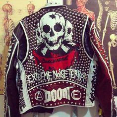 Punk jacket hand painted