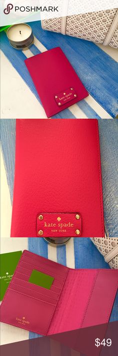 Travel in Style Kate Spade Passport Case 100% Cow leather Kate Spade Passport case, brand new!  kate spade Bags Travel Bags