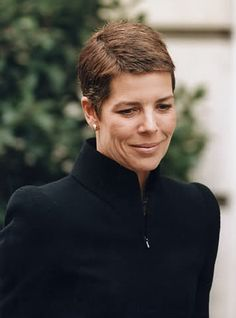 Princess Caroline of Monaco while her hair was growing out !  Looks great :)