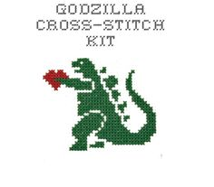 One day when I have more time, Godzilla will be mine................................ Love this design by Bombastitch