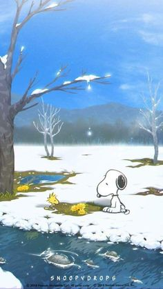 Snoopy, Woodstock and Friends Playing in the Snow Woodstock Snoopy, Snoopy Love, Snoopy Images, Snoopy Pictures, Snoopy Comics, Bd Comics, Peanuts Cartoon, Peanuts Snoopy, Peanuts Movie