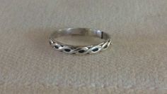 Twisted Pattern Sterling Silver Ring Eco by TheBleuGiraffe on Etsy, $10.00