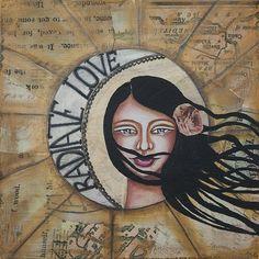 Radiate LOVE Inspirational art By Stanka Vukelić - LadyArtTalk #art #love