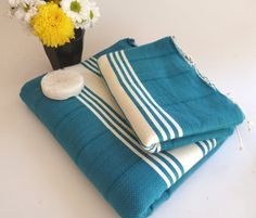 Turkish BATH and Head Towel Set Handmade Peshtemal by TheAnatolian, $39.50