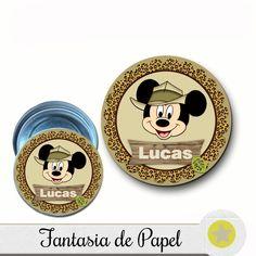 Adesivo Para Latinha Mickey Safári - R$ 7,00 no MercadoLivre