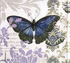 Set of 2 napkins For collectors for decoupage scrapbooking and other art and crafts decoupage under glass