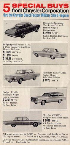 1965 Chrysler Cars