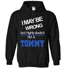 TOMMY - #funny t shirts for women #sleeveless. LIMITED TIME PRICE => https://www.sunfrog.com/Names/TOMMY-6242-Black-29373343-Hoodie.html?60505