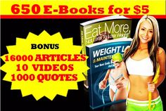give 650 MRR Weight Loss,Health EBooks,Articles and Images by kasjay