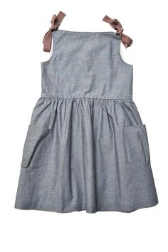 Chambray dress with shoulder ties. Yes, please.