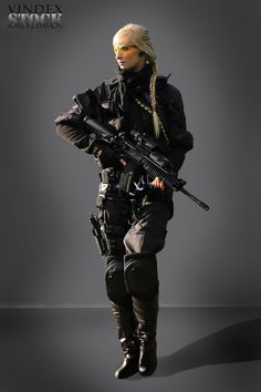 Female Universal Soldier STOCK II by PhelanDavion on DeviantArt