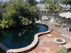 Garden pond on pinterest small ponds ponds and koi ponds for Laguna koi ponds
