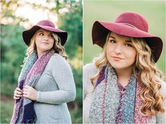 Accessories, such as this gorgeous old hat and lovely scarf, add so much character and beauty to your senior portraits. Don't forget the details when choosing your senior session wardrobe.