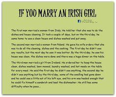 If You Marry An Irish Girl Irish American, Irish Girls, Irish Blessing, Funny As Hell