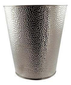 Another great find on #zulily! Silver Hammered Metal Waste Basket by Euro-Ware #zulilyfinds