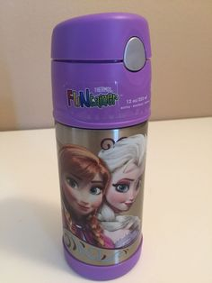 Thermos Funtainer Frozen 12 Oz Drink Water Bottle Anna Elsa Olaf NEW #Thermos