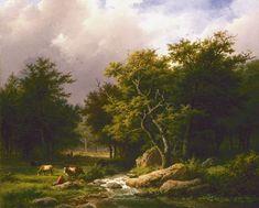 Beautiful Landscape Paintings, Amazing Paintings, Art Studies, Land Art, Tree Art, Painting & Drawing, Netherlands, Fantasy Art, Art Photography