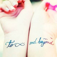 Lovely matching sister tattoos | http://www.cosmopolitan.co.uk/beauty-hair/g3730/20-sweet-cute-matching-sister-tattoos-instagram