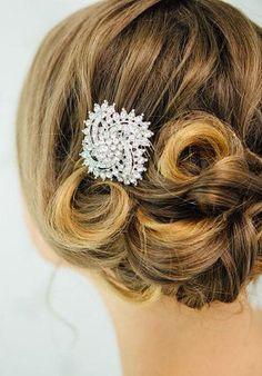 Crystal Hair Comb / Bridal Hair Accessories